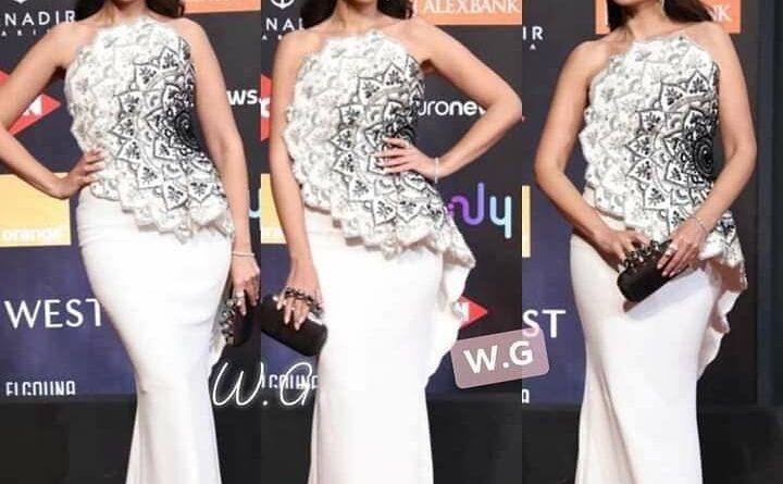 في أول ظهور لها.. درة تطل بفستان أبيض في ختام فعاليات الجونة